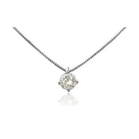 0b781611b69f Leo Pizzo Diamond Solitaire 18k White Gold Pendant Necklace ...