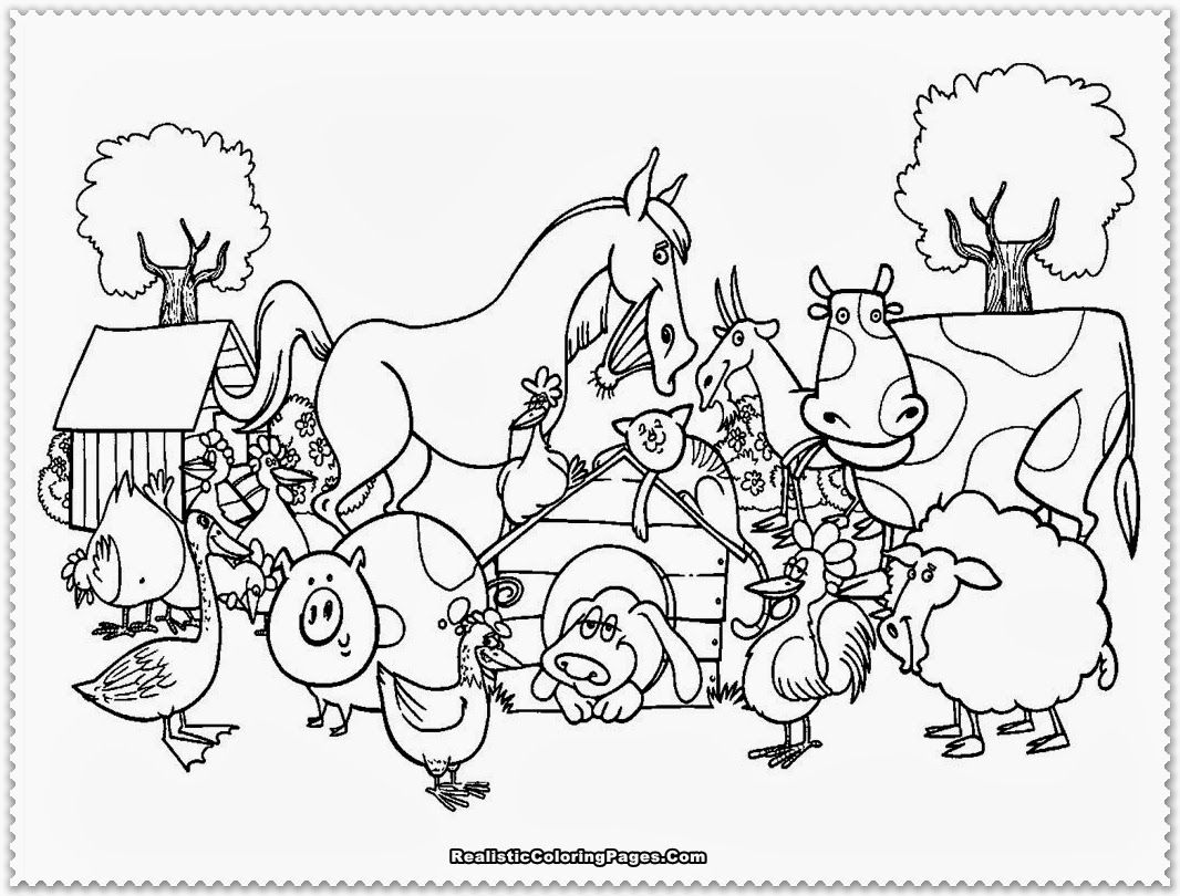 18++ Farm animals coloring sheet images
