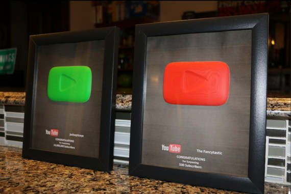 Custom YouTube Play Button Replica Fancy Play Button