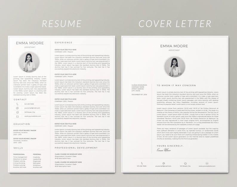 Resume Template Cv Template Modern Resume Template Etsy