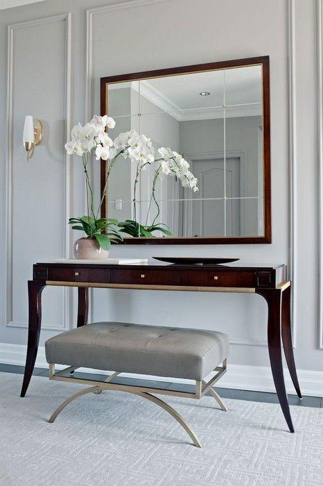 Beauty Helpers 25 Vanity Tables Interiorforlife.com Refined Foyer. Designed by Elizabeth Metcalfe Interiors and Design Inc