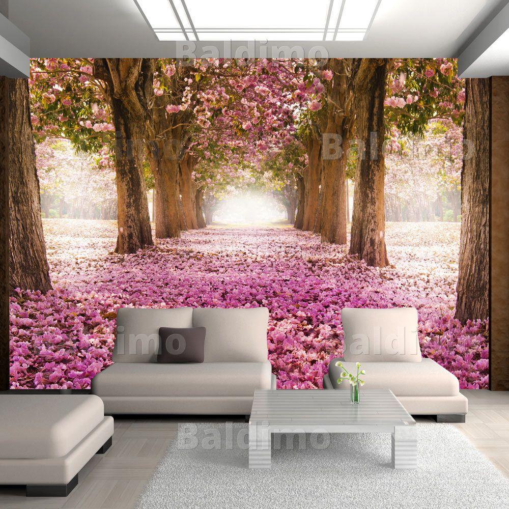 Vlies Fototapete 3 Farben Zur Auswahl Tapeten Blumen Weg C A