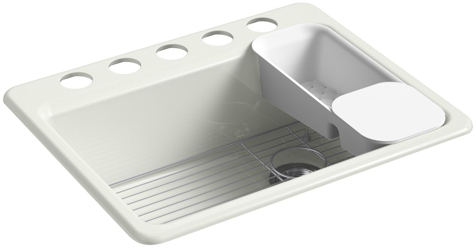 kohler k 8668 5ua2 riverby 27 single basin cast iron kitchen sink for - Kohler Waschbecken Schneidebrett