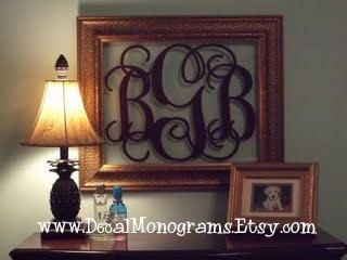 Extra Large Personalized Vinyl Wall Decal Monogram