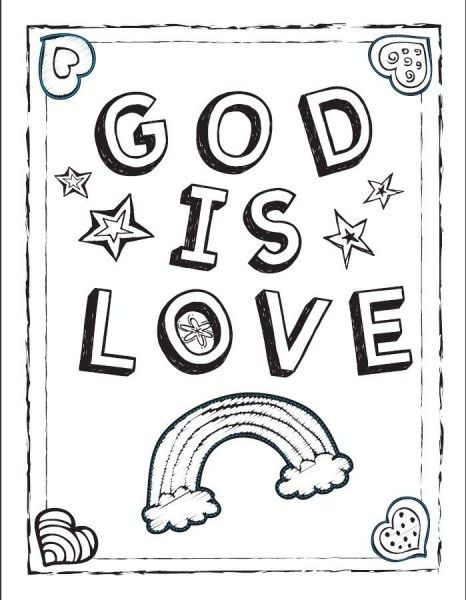 coloring sheet | AGAPE | Pinterest | Scriptures and Crafts