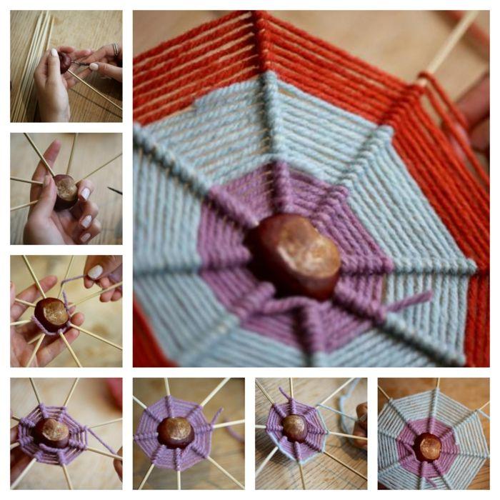 ▷ 1001 + Ideen für Kastanien basteln zum Inspirieren #spinnennetzbasteln