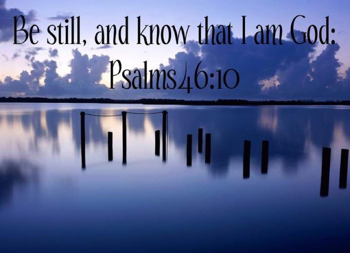 Be still and know That I am God    http://wrp.myshaklee.com