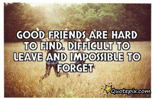 Quotes On Good Friends Are Hard To Find