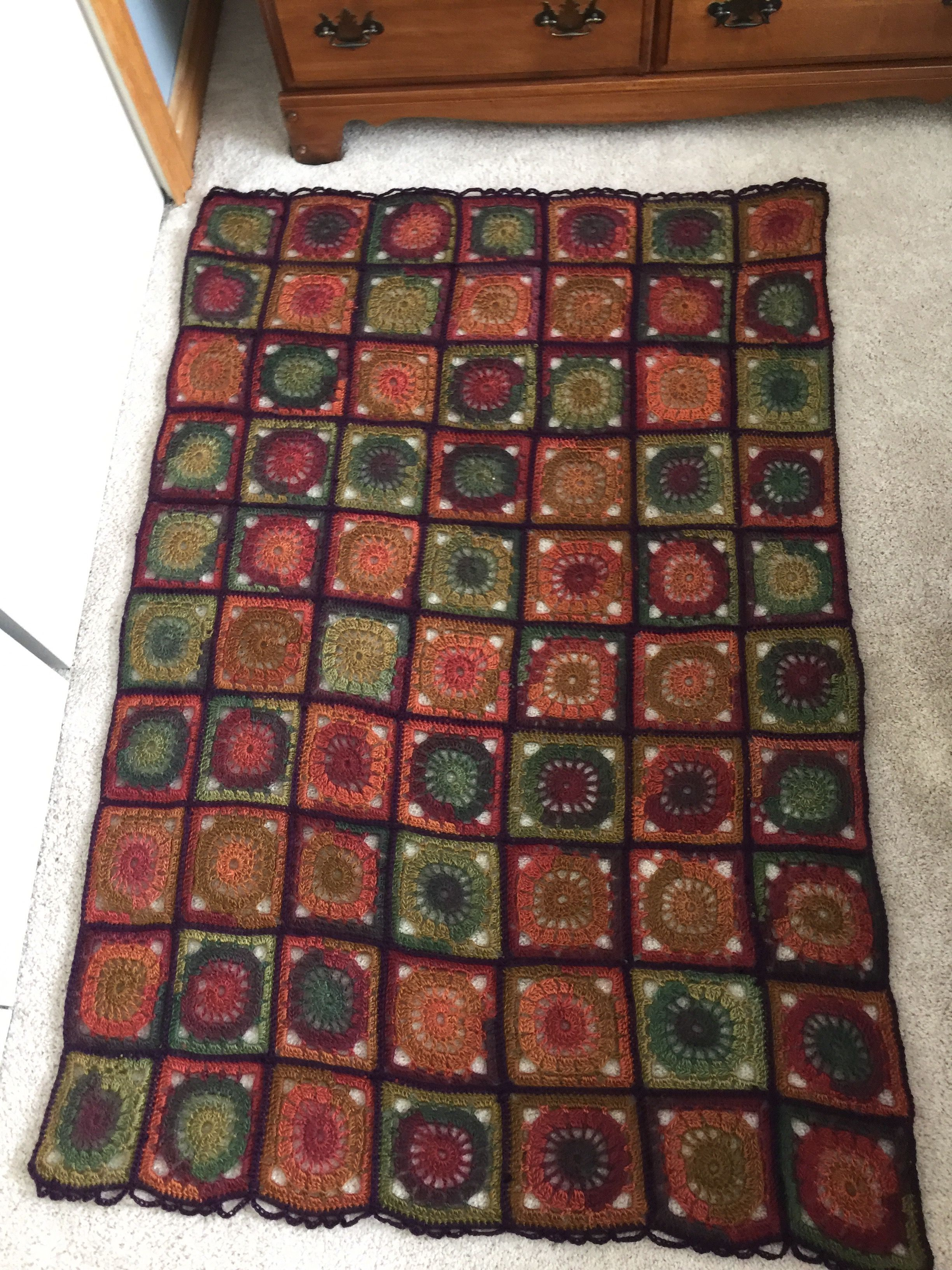 boho style granny square throw recycled pallet bohemian rug wood pallets on boho chic kitchen rugs id=74537