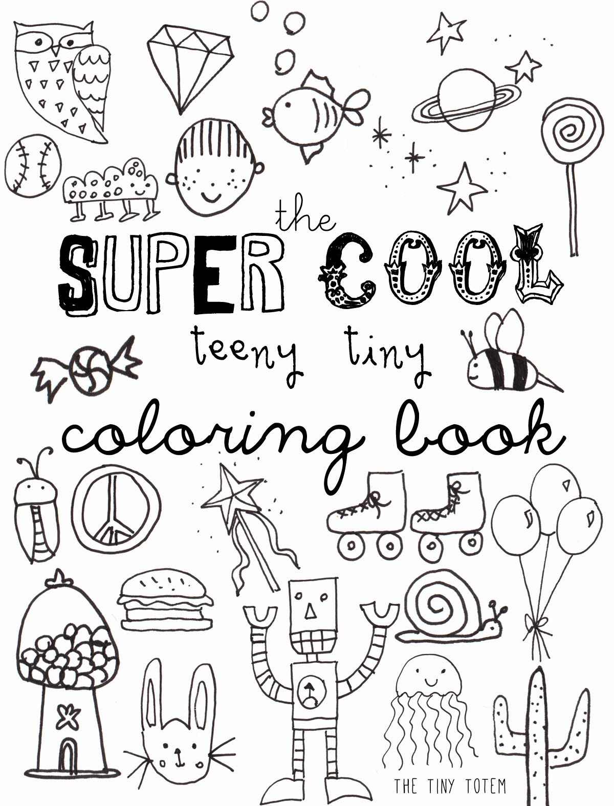 Free Printable Mini Coloring Book from The Tiny Totem | Teaching ...