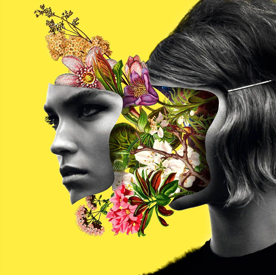 Color art digital - Illustration Art Fashion Model Portrait Color Collage Digital Art Faces Pop Art Asylum Art
