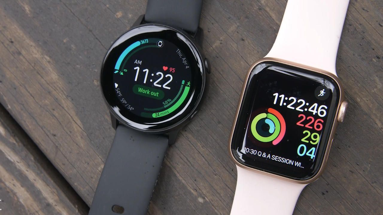 Galaxy Watch Active Vs Apple Watch Series 4 Which Is The Better Deal Apple Watch Series Samsung Watches Apple Watch