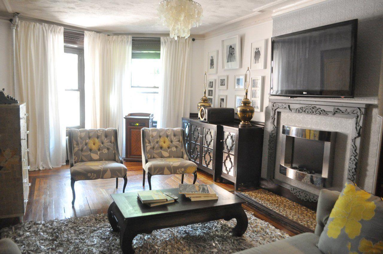 Sofia S Diy Garden Apartment In Brooklyn Brooklyn House Apartment Garden Living Room Grey