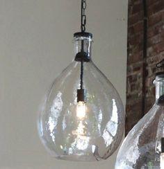 Oversized Glass Pendant Light Glass Pendant Light Rustic Light