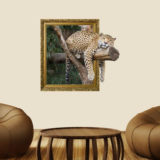 Out of Frame Leopard Wall Decal