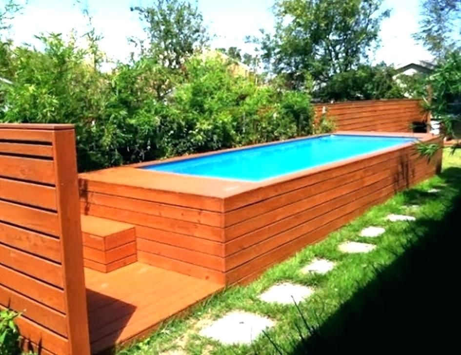 Above Ground Exercise Pool Wooden