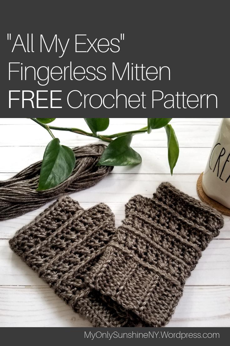 All My Exes Fingerless Mittens Pattern Crochet Patterns Community