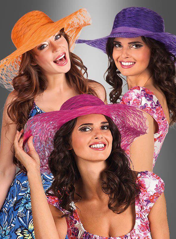 sommerhut riviera für damen bei kostümpalastde kaufen