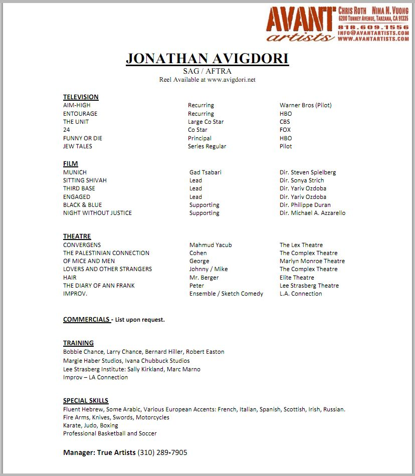 Child Actor Sample Resume - http://www.resumecareer.info/child-actor ...