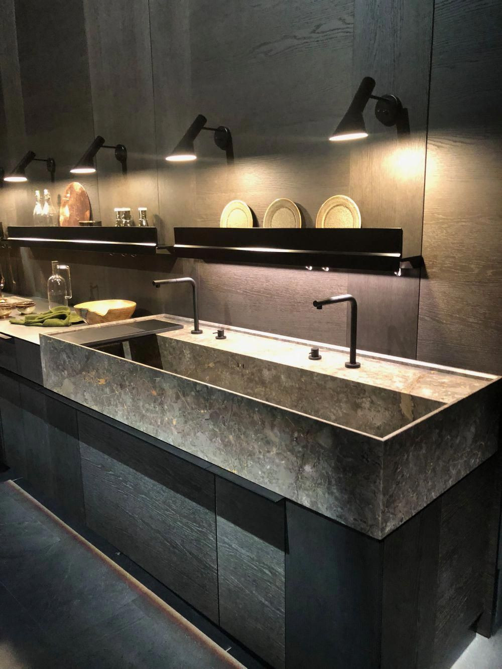 Large kitchen sink EuroCucina 2018 at Salone del mobile