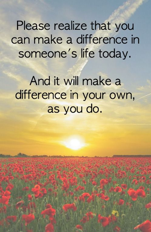 How To Make A Difference For Others, And For You ...