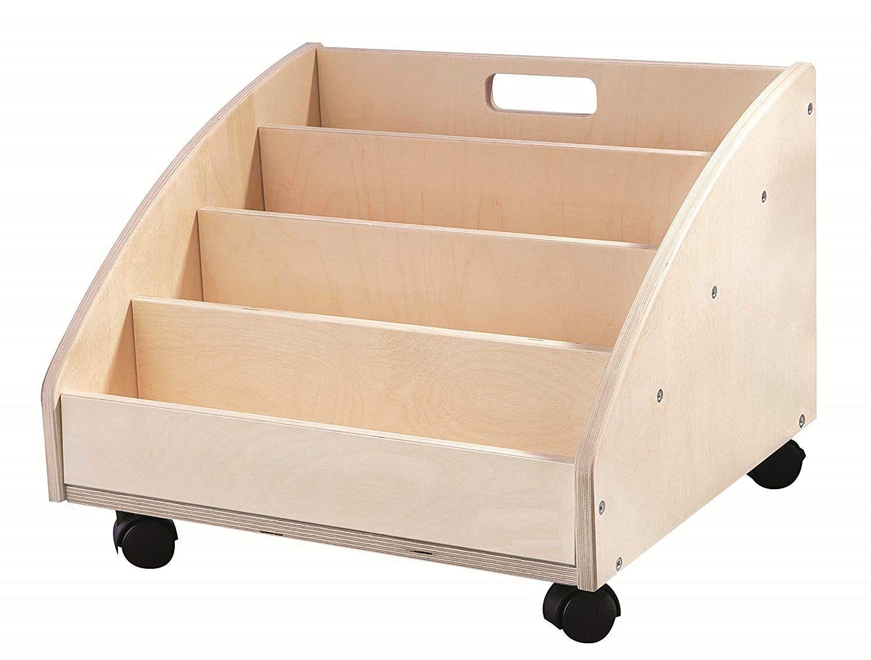 Profi BÜCHERKISTE aus Holz auf Rädern Bücherregal in 2020