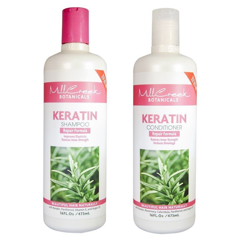 Mill Creek Botanicals Keratin Shampoo And Conditioner Bundle