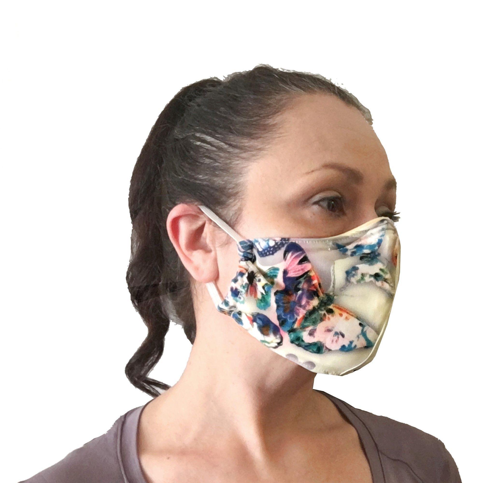 Butterflies chiffon face mask by atelier vertex in 2020