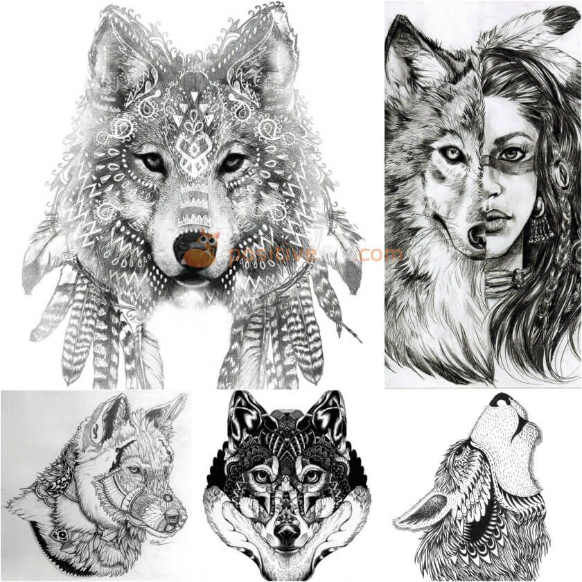 Pin On Wolf Tattoo