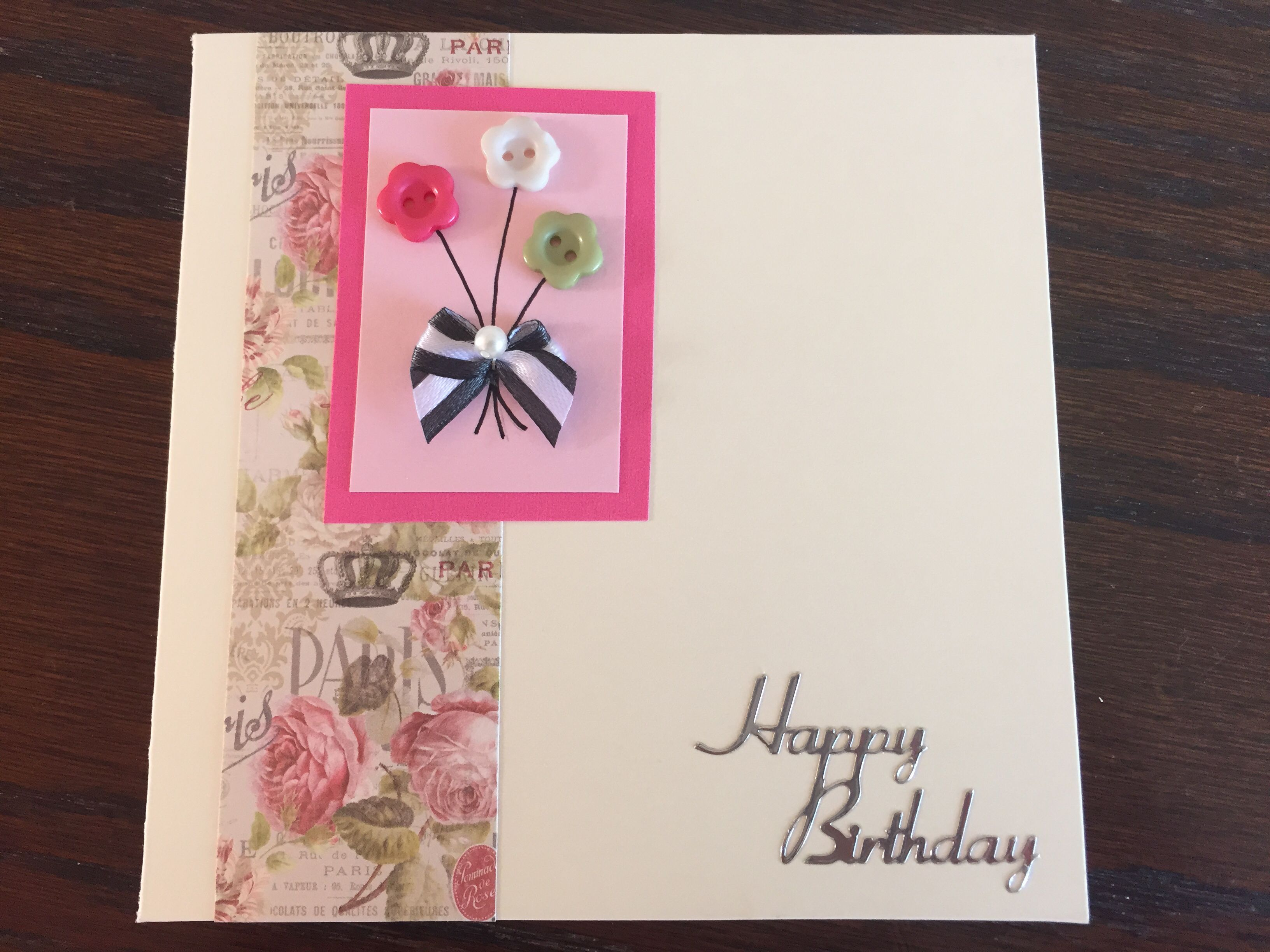 paris style happy birthday simple cards design mycards