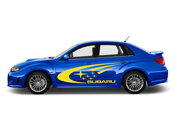 Subaru Impreza Wrx Sti Car Vinyl Stickers Side Door Banner Jdm Sti Car Subaru Impreza Subaru