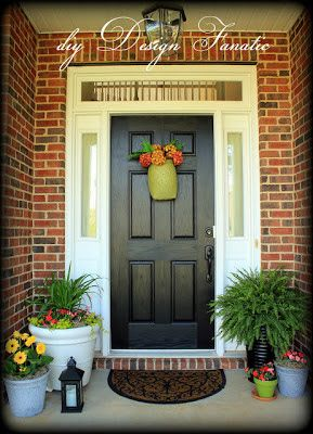 what front door color goes with light brick exterior house