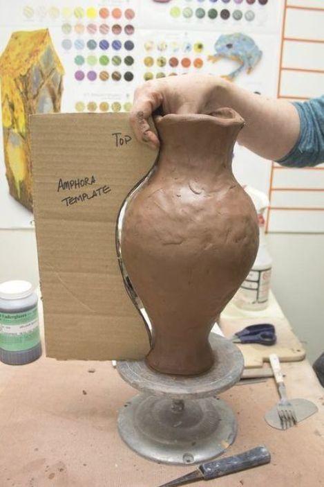 Large amphora raw steps 155  #potterydesign #potterytechniques #handmade #pottery #ceramics #clay #clayart #production #process #makingpottery