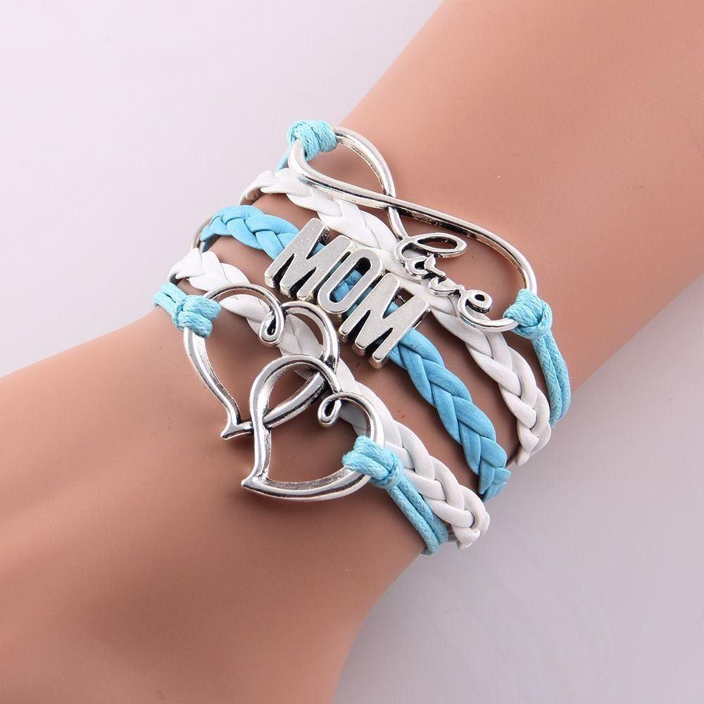Love mom u grandma infinity bracelets in multiple colors u styles