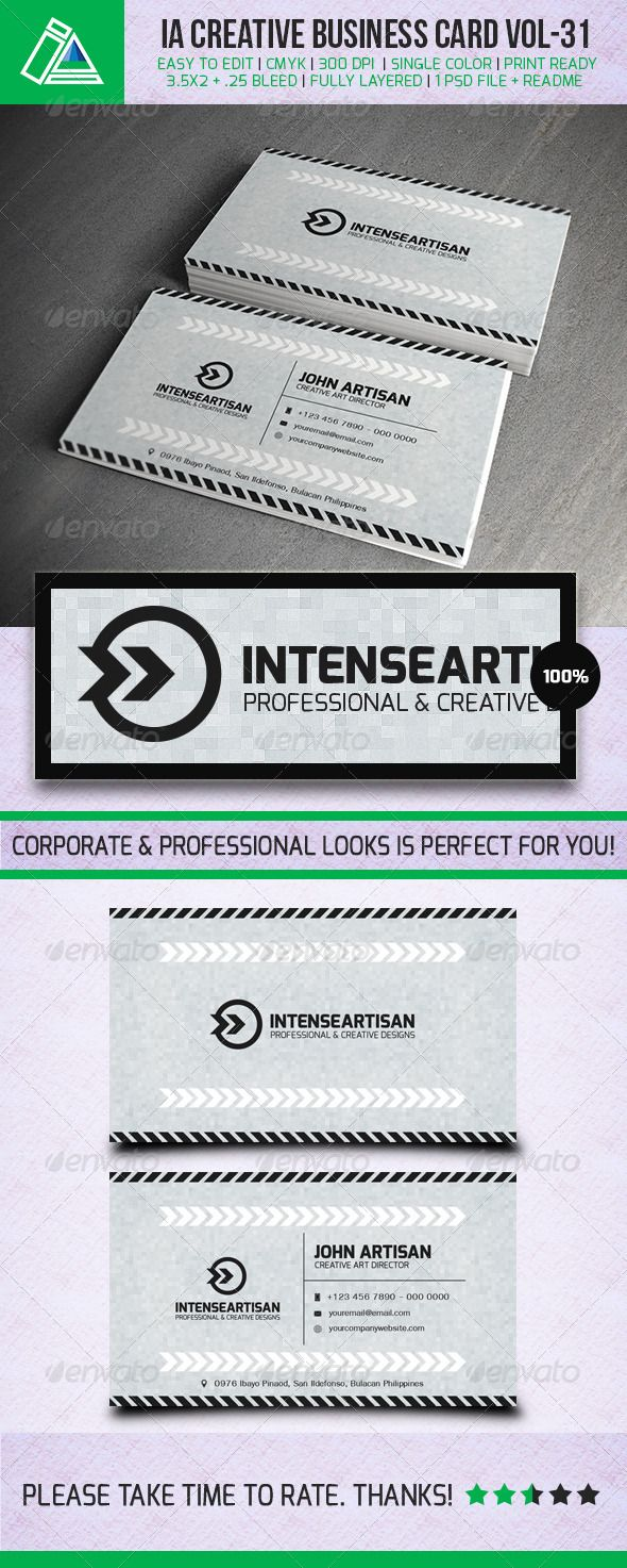 IntenseArtisan Business Card Vol.31 | Business cards, Business and ...
