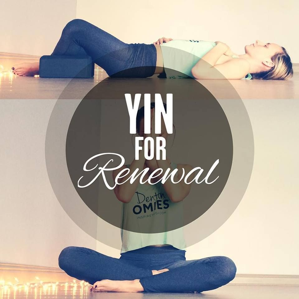 Yin Yoga Sequence for Renewal. Great poses to get your new year started off right!                                                                                                                                                                                 More