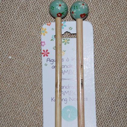 Hand beschilderde breipennen van bamboe - n° 7