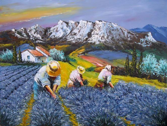 Edward misiaszek recoltes de lavande google search lavande peinture pi - Peinture couleur lavande ...