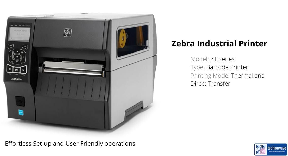 Zt420 Industrial Printer Thermal Labels Data Capture Printer