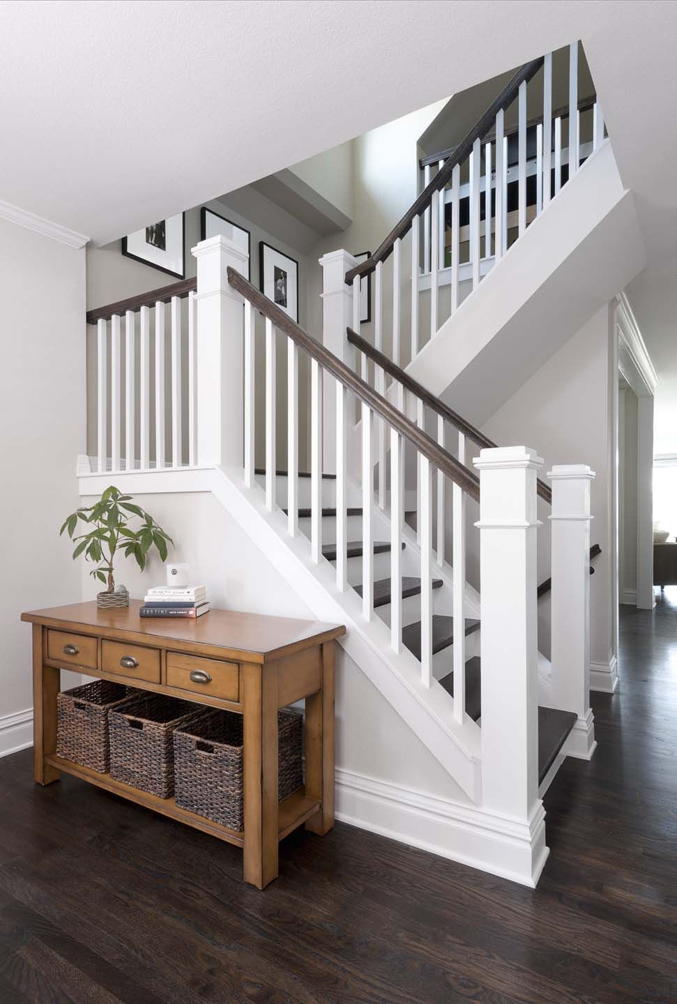 Congress Park Whole House Refresh « Classic Homeworks Staircase   Grey And White Banister   Green White   Staircase   Gray Stained   Fixed Wall Painted   Light Grey Grey