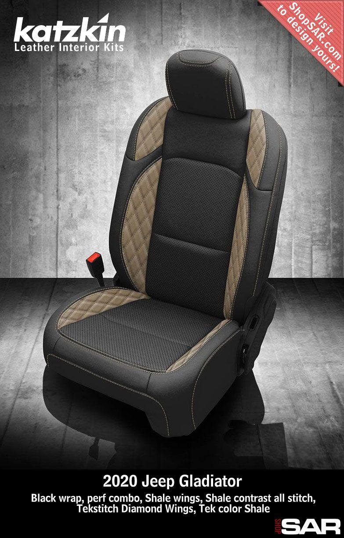 Katzkin Leather Interior Kits Leather Seat Covers Jeep Gladiator Leather Seat