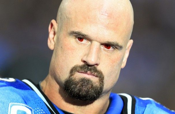 Kyle  Vanden  Bosch and those scary red eyes!! | Lions football, Detroit  lions, Lions