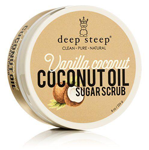 Deep Steep Coconut Oil Sugar Scrub, Vanilla, 8 Fluid Ounce