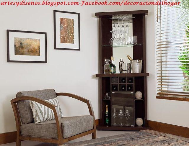 Esquineros para salas by deco for Mueble bar moderno para casa