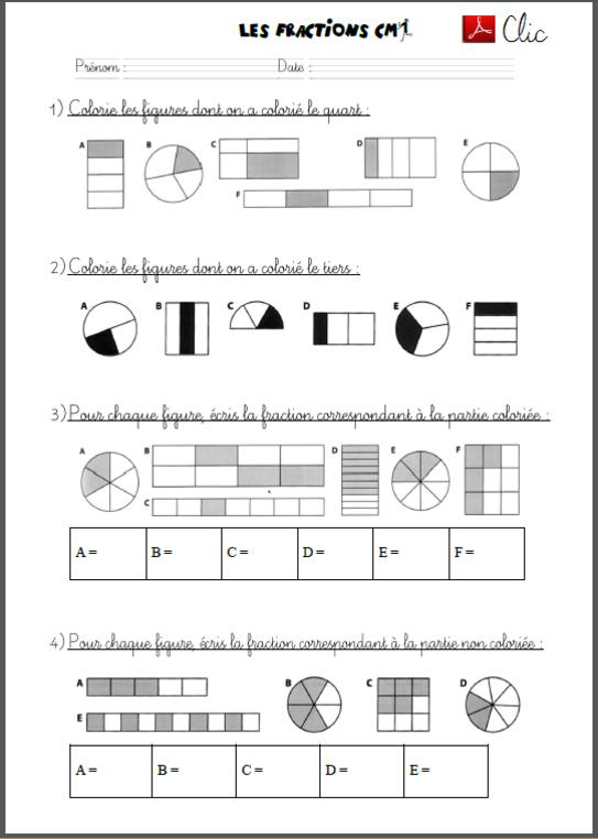 Découvrir les fractions avec les CM1   Fractions, Cm1, Découvrir