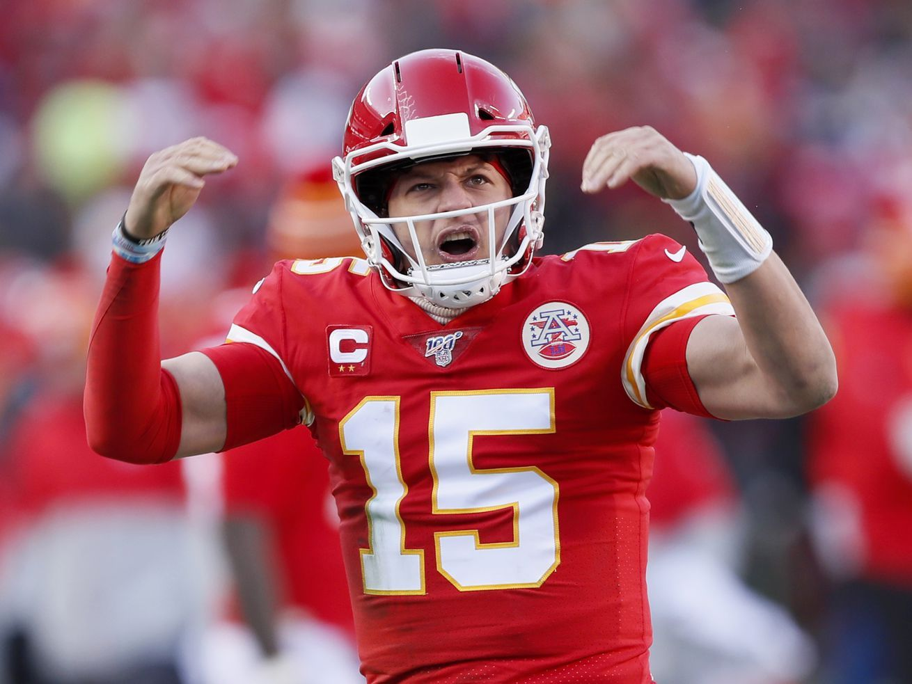 Mahomes Feet Arm Lift Chiefs To Super Bowl Over Titans In 2020 Chiefs Football Super Bowl Afc Championship