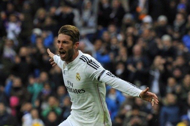 Sergio Ramos Celebrates His Goal Vs Real Sociedad 31 1 15 Sergio Ramos Real Madrid Calf Injury