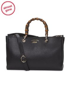 Made In Italy Leather Shopper Tote