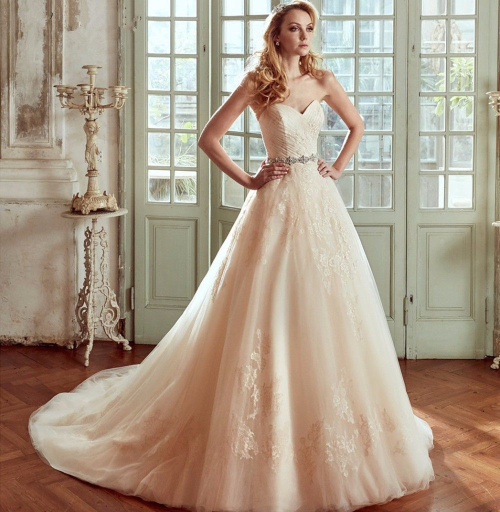 New Vintage Wedding Dress 2017 Sweetheart Neck Off The