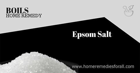 does epsom salt help boils